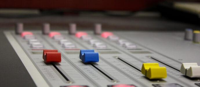 Die Regler im Radio4TNG - Studio